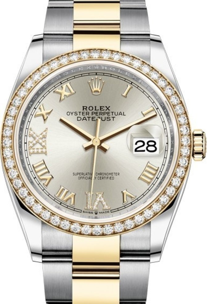 126283rbr-0018 Rolex 36mm Steel and Yellow Gold Datejust