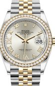 Rolex Datejust 126283rbr-0017 36mm Steel and Yellow Gold