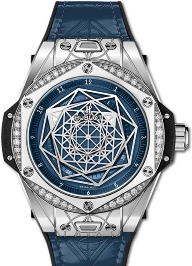 Hublot 465.SS.7179.VR.1204.MXM19 Big Bang Sang Bleu Steel Blue Diamonds 39 mm