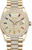 Rolex Day-Date 128348rbr-0031 36 mm Yellow Gold
