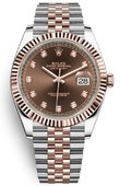 Rolex Datejust 126331 Chocolate set with diamonds Jubilee 41mm