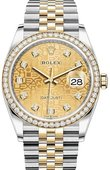 Rolex Datejust 126283rbr-0019 36 mm Steel and Yellow Gold