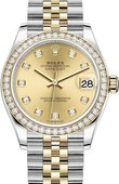 Rolex Datejust 278383rbr-0026 31mm Steel and Yellow Gold
