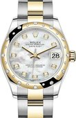 Rolex Datejust 278343rbr-0027 31mm Steel and Yellow Gold