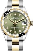 Rolex Datejust 278343rbr-0029 31mm Steel and Yellow Gold