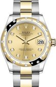 Rolex Datejust 278343rbr-0025 31 mm Steel and Yellow Gold
