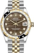Rolex Datejust 278343rbr-0024 31mm Steel and Yellow Gold