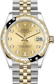 Rolex Datejust 278343rbr-0026 31mm Steel and Yellow Gold