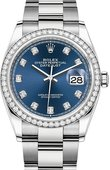 Rolex Datejust 126284rbr-0030 36mm Steel and White Gold