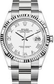 Rolex Datejust 126234-0026 36mm Steel and White Gold