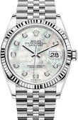 Rolex Datejust 126234-0019 36 mm Steel and White Gold