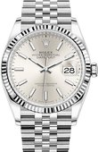 Rolex Datejust 126234-0013 36mm Steel and White Gold