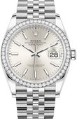 Rolex Datejust 126284rbr-0005 36mm Steel and White Gold