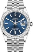 Rolex Datejust 126284rbr-0009 36mm Steel and White Gold