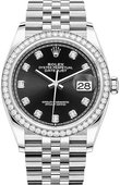 Rolex Datejust 126284rbr-0019 36mm Steel and White Gold