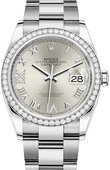 Rolex Datejust 126284rbr-0022 36mm Steel and White Gold