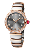 Bvlgari Lvcea 103029 Pink Gold Stainless Steel Brilliant