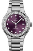 Hublot Classic Fusion 568.NX.897V.NX.1204 38 mm Titanium Purple Diamonds Bracelet