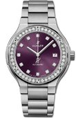 Hublot Classic Fusion 585.NX.897V.NX.1204 33 mm Titanium Purple Diamonds Bracelet