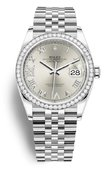 Rolex Datejust 126284RBR-0021 36 White Rolesor Diamonds Bezel Jubilee Bracelet