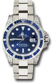 Rolex Oyster Perpetual 116659 SABR bl White Gold Submariner Date Watch Sapphire And Diamond Bezel Blue Dial