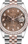 Rolex Datejust 126281RBR Chocolate Jubilee design diamonds Everose Rolesor Set with Diamonds Bezel Jubilee Bracelet