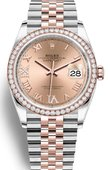 Rolex Datejust 126281RBR Rose set with diamonds Everose Rolesor