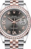 Rolex Datejust 126281RBR Dark rhodium set with diamonds Everose Rolesor Jubilee Bracelet