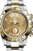 Rolex Daytona 116503 Champagne set with diamonds Steel and yellow gold
