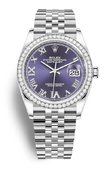 Rolex Datejust 126284RBR-0013 36 White Rolesor Diamonds Bezel Jubilee Bracelet