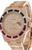 Rolex Часы Rolex GMT-Master II 126755SARU PAVE 40 mm Everose Gold