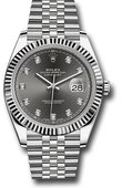Rolex Datejust 126334 Dark rhodium set with diamonds White Rolesor Jubilee