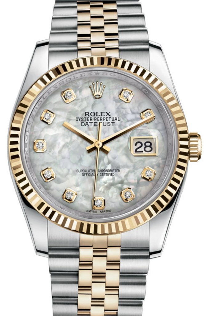 Rolex 116233 mdj Datejust Steel and Yellow Gold