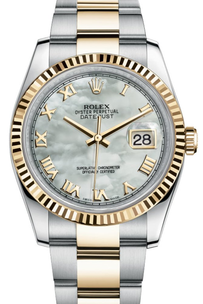 Rolex 116233 mro Datejust Steel and Yellow Gold