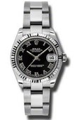 Rolex Datejust Ladies 178274 bkro Steel and White Gold