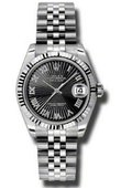 Rolex Datejust Ladies 178274 bksbrj Steel and White Gold