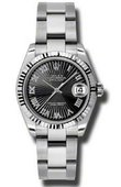 Rolex Datejust Ladies 178274 bksbro Steel and White Gold
