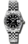 Rolex Datejust Ladies 178274 bksj Steel and White Gold