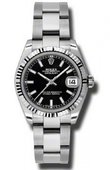 Rolex Datejust Ladies 178274 bkso Steel and White Gold