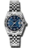 Rolex Datejust Ladies 178274 blcaj Steel and White Gold