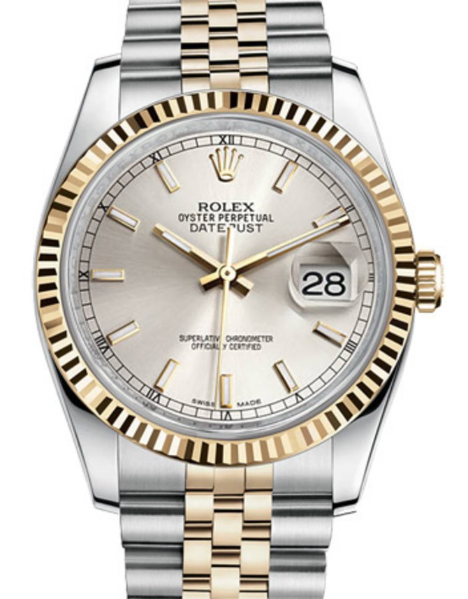 Rolex 116233 ssj Datejust Steel and Yellow Gold