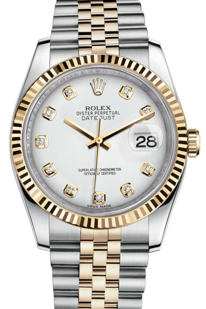 Rolex 116233 wdj Datejust Steel and Yellow Gold