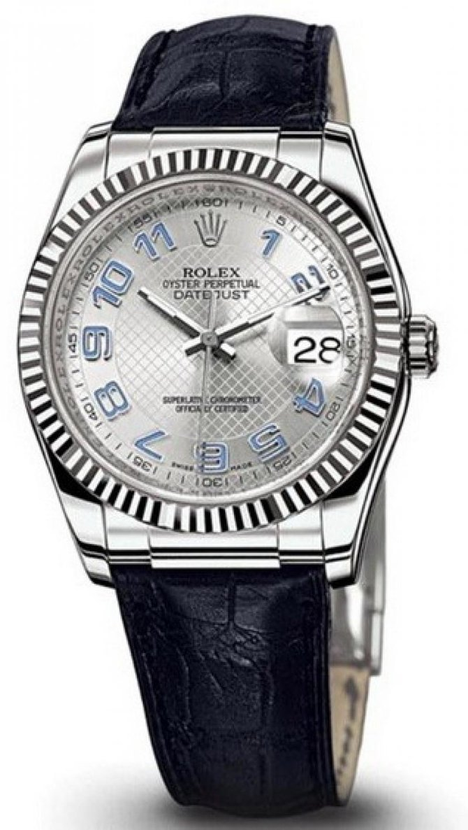 Rolex 116139 silver Datejust White Gold - фото 1