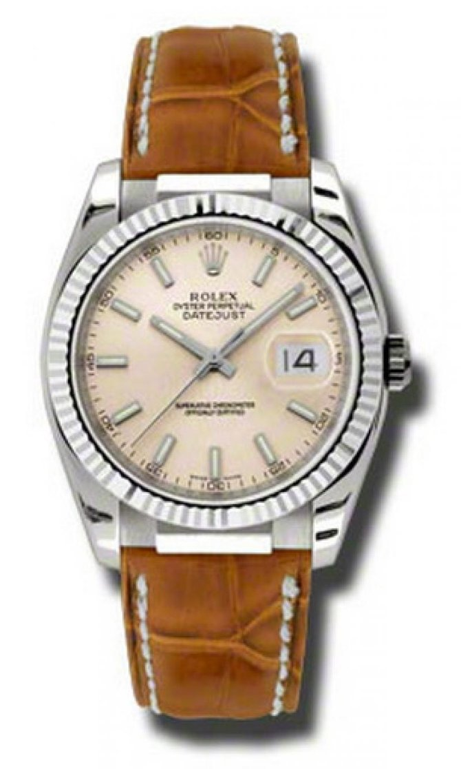 Rolex 116139 psb Datejust White Gold - фото 1