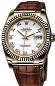 Rolex Datejust 116138 white rome Yellow Gold
