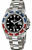 Rolex Часы Rolex GMT-Master II 116759SARU 40mm White Gold Jewellery
