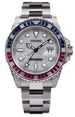 Rolex Часы Rolex GMT-Master II 116759SARU Pave 40mm White Gold Jewellery