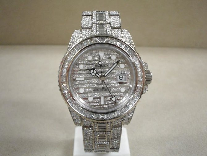 Rolex 116769TBR GMT-Master II 40mm White Gold Jewellery - фото 3