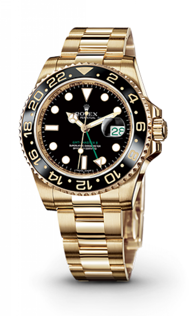Rolex 116718LN-Black GMT-Master II 40mm Yellow Gold - фото 2