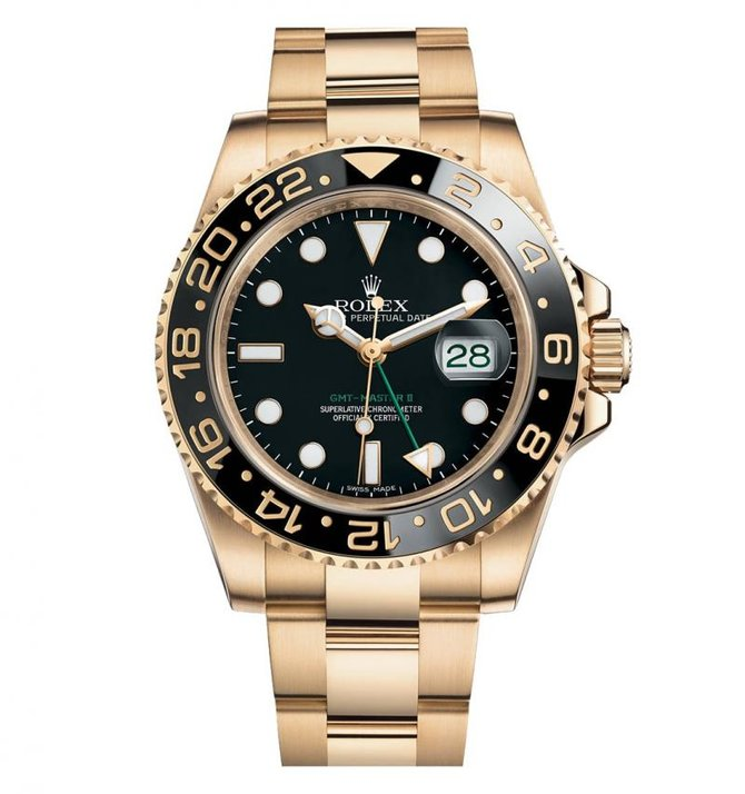 Rolex 116718LN-Black GMT-Master II 40mm Yellow Gold - фото 1